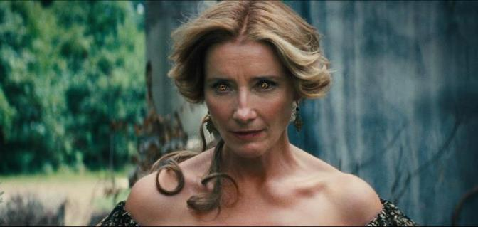 Actress Emma Thompson with some fierce glowing eyes