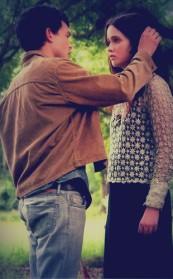 Alden Ehrenreich as Ethan Wate and Alice Englert as Lena Duchannes