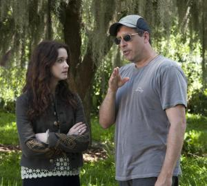 Alice Englert with director Richard LaGravense