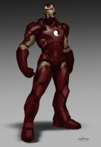"""""""The next design was playing around with the stance of the suit toward more of a brawler attitude, somewhat beefier and less aircraft-like."""""""