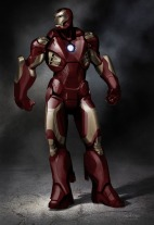 """""""Lastly was a more extreme departure, trying to create a very different silhouette, sort of the Stark Industries answer to a more heavily militarized suit like War Machine, but drawing from Air Force form language instead of Army."""""""