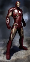 """The first was actually a revision of a design I had been thinking of initially for Iron Man 2 before ultimately choosing another project. It was a lighter, more streamlined version of what had come before, trying to integrate a flowing theme wrapping around the """"RT"""" on the chest and mirroring that fast line through the body. This was more of the evolutionary design, and ultimately was approved pretty much immediately as a starting point for the Mk 7."""""""