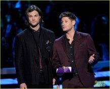 Jensen Ackles in dark wine color