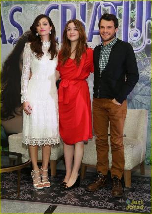Emmy Rossum, Alice Englert, & Alden Ehrenreich