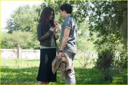Lena Duchannes (Alice Englert) and Ethan Wate (Alden Ehrenreich)