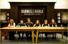 The cast and authors of Beautiful Creatures