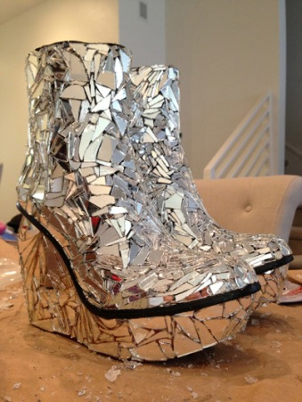 """Completed """"Shatter Me"""" shoes"""