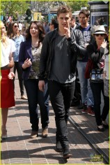 Cast Of The Host appears at The Grove to film EXTRA