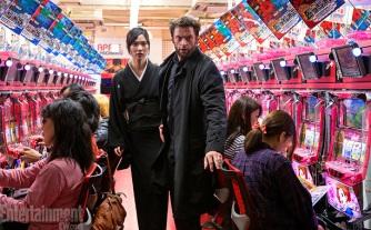 Tao Okamoto (Mariko) and Hugh Jackman