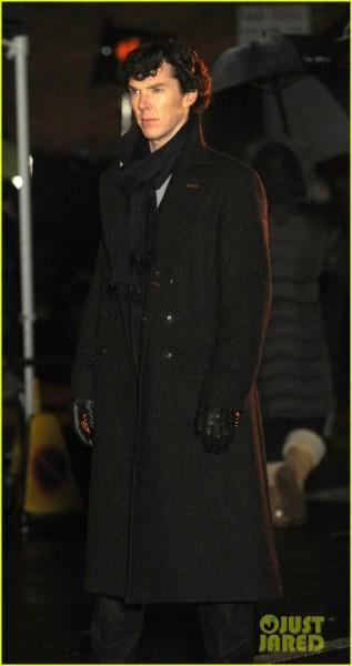Benedict Cumberbatch seen filming in Euston for the next 'Sherlock' series in London